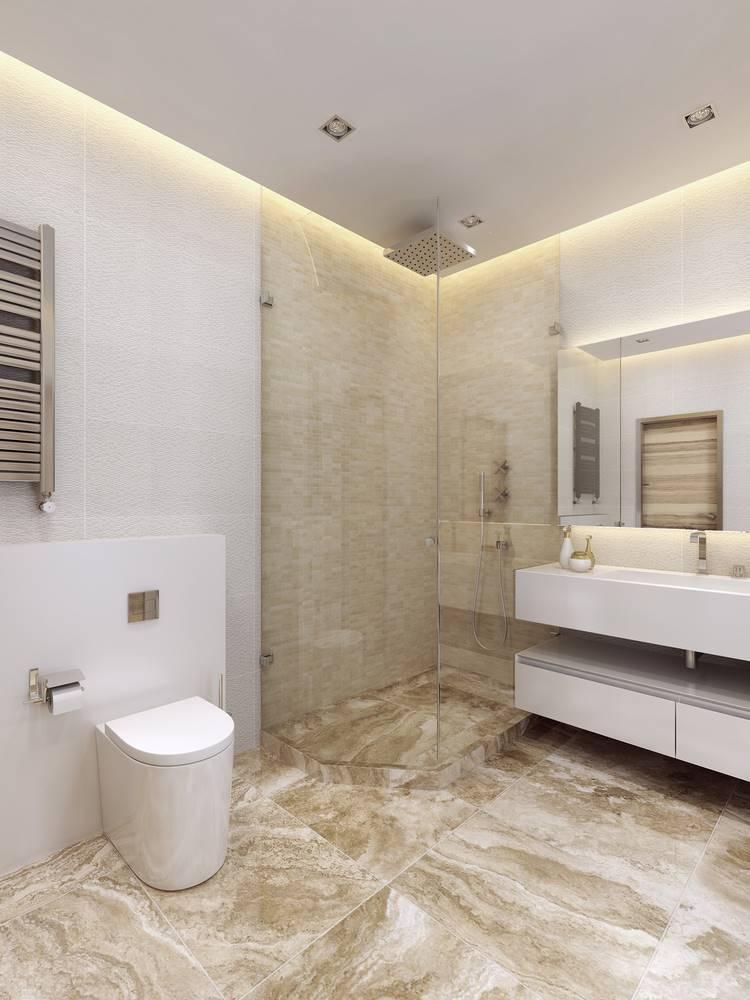 granitowa posadzka w łazience