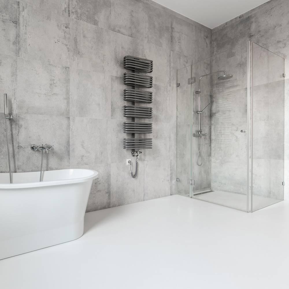 łazienka z konglomeratem